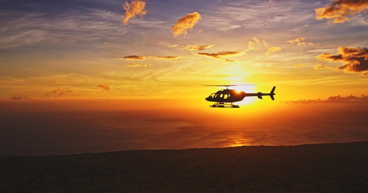 bell 407 sunset